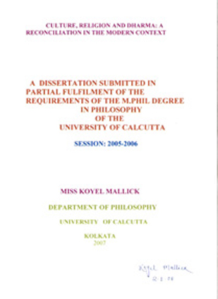 M phil dissertation in commerce