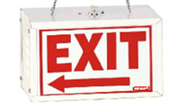 how to change an exit sign light bulb