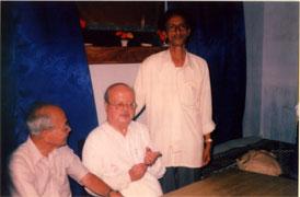 pratap chandra mid s guha right at sarat chandra bhaban