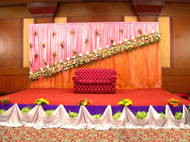 Umar swapna for 25th wedding anniversary stage decoration