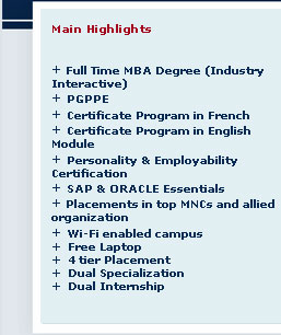 time mba colleges
