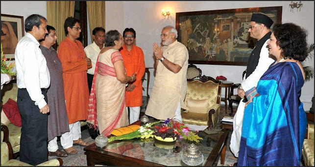 Meeting with PM at Rajbhavan With Netajis Family Arranged By Namo Sena